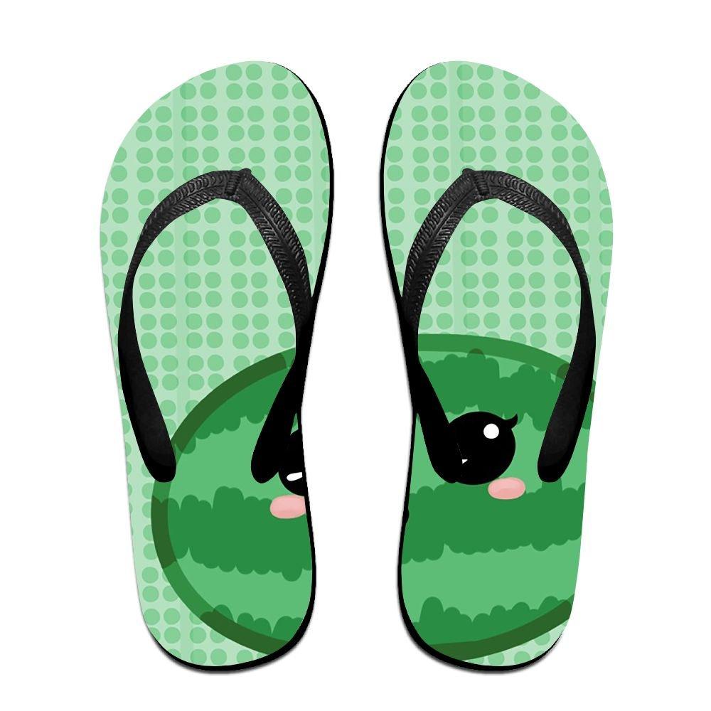 Couple Slipper Watermelon Summer Green Print Flip Flops Unisex Chic Sandals Rubber Non-Slip House Thong Slippers