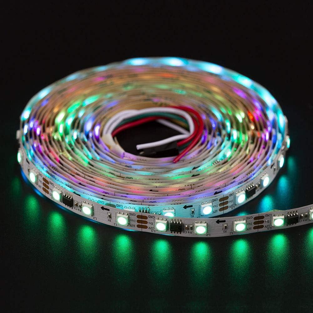 BTF-LIGHTING WS2811 5m 16.4ft 30LEDs//m 150LEDs Addressable Flexible LED Strip Dream Color IP65 Silicone Coating Waterproof DC12V