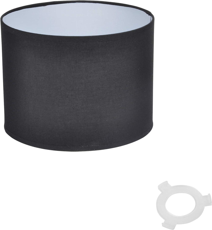 Schwarz Homea 6ABJ121NR Lampenschirm PVC H/öhe 18 cm Durchmesser 25 cm