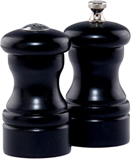 """product image for Chef Specialties 4"""" Capstan Pepper Mill and Salt Shaker Set, Ebony"""