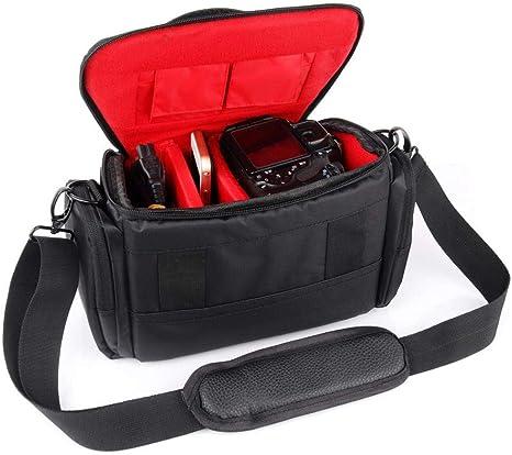 Bolsa De La Cámara DSLR Funda para cámara Nikon D5300 D3400 D850 D7200 D7100 D7000 D5200 D5100 D5000 D3300 D3200 D3100 D7500 D80 D90 Bolso de Hombro, Rojo: Amazon.es: Electrónica