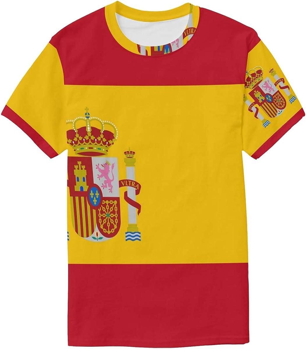 DEZIRO - Camiseta de Manga Corta para Hombre, diseño de Bandera de España: Amazon.es: Ropa y accesorios