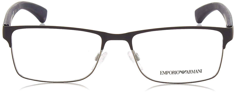 82ada9deffb Armani EA1052 Eyeglass Frames 3155-Blue Rubber matte Gunmetal at Amazon  Men s Clothing store