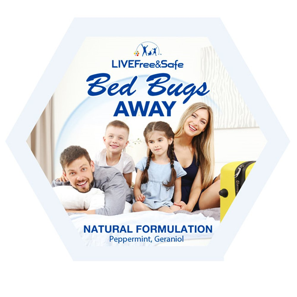 Live Free & Safe Air Freshener | Natural Ingredients | Controlled Release Technology | Eliminate Odors | Made in the USA (Bed Bugs Away, 5-Pack)