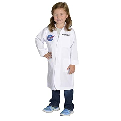 Aeromax Jr. NASA Rocket Scientist Lab Coat, White, size 6/8: Toys & Games