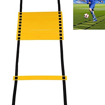 Aolvo Pro Escalera de fútbol con bolsa de transporte, escalera de ...
