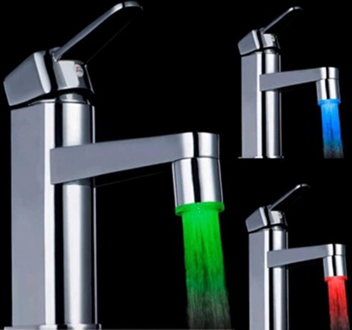Hot Sale Glow Led Light Water Faucet Tap Lighting Shower Spraying Basin Faucets For Kitchen Bathroom Accessory Bathroom Sinks,faucets & Accessories Bathroom Fixtures