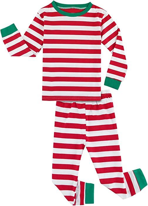 06f5ee3954 Boys Girls Christmas Santa Claus Pajamas Kids Sleepwear Long Set. Mombebe Kids  Boys Christmas Pajamas Winter Striped Sleepwear Long Sleeve (Red