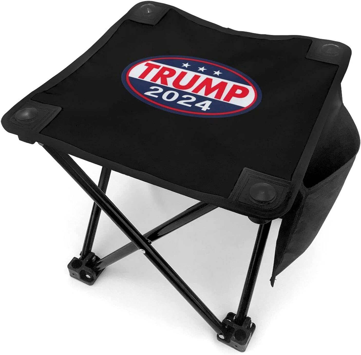 Trump 2024 Folding Camping Stool Portable Fishing Slacker Chair Mini Foldable Stool for Outdoor Backpacking Hiking BBQ Picnic Travel Gardening and Beach with Carry Bag