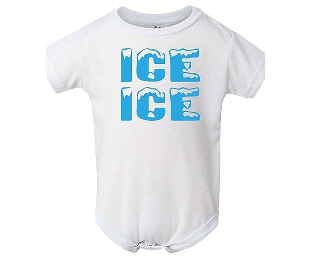 1b8212dd5 Amazon.com: BLAKENREAG Ice Ice Funny Baby Bodysuit Boutique Baby Boy ...