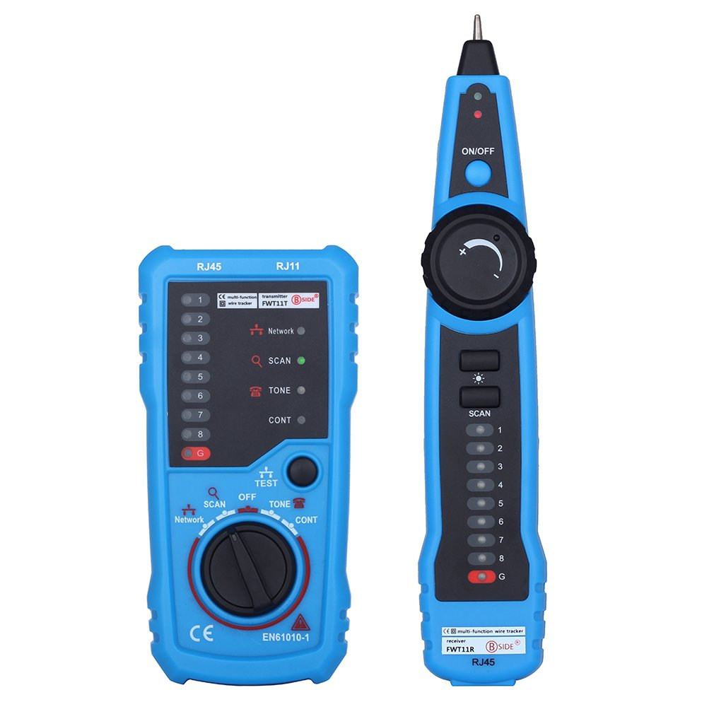 Network Cable Tester, FWT11 Emitter, RJ11 RJ45 Cat5 Cat6, Telephone Line Tracker, Wire Tracker, Line Finder, Toner Ethernet LAN Detector Footprintse