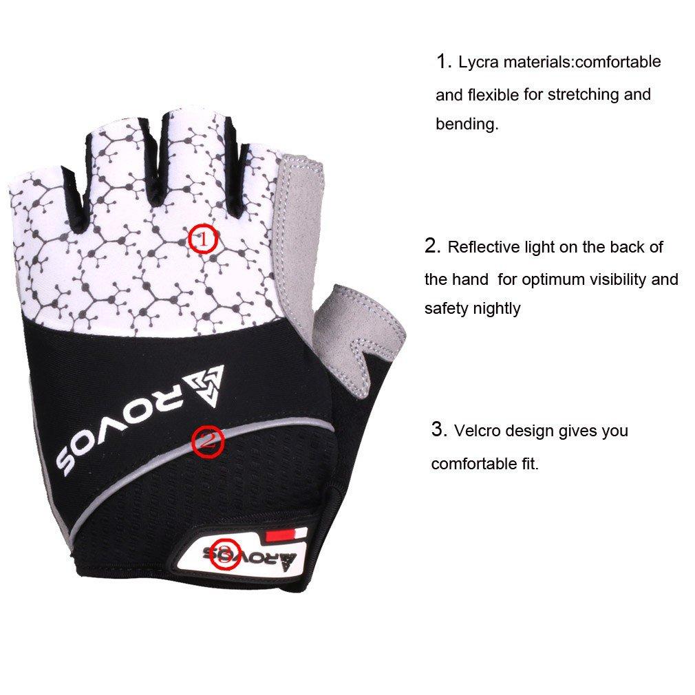 ROVOS Mountain Bikes Gloves Men Half Finger 3D Gel Bikes Gloves Breathable Cycling Gloves