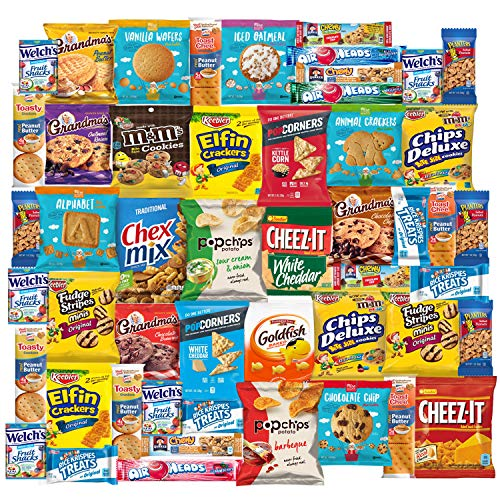 Snackland Care Package Variety Pack Bulk Sampler by Variety Fun (50 Count) ()