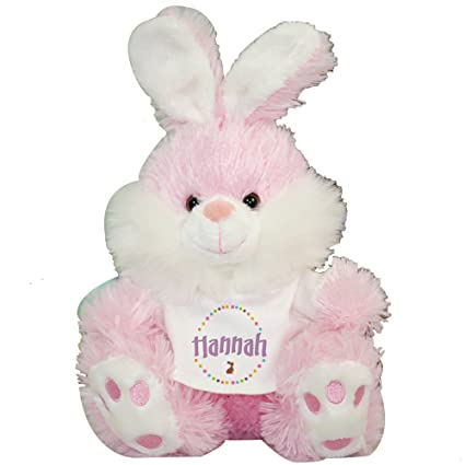 Amazon Com Giftsforyounow Personalized Pink Bunny Rabbit Plush 12