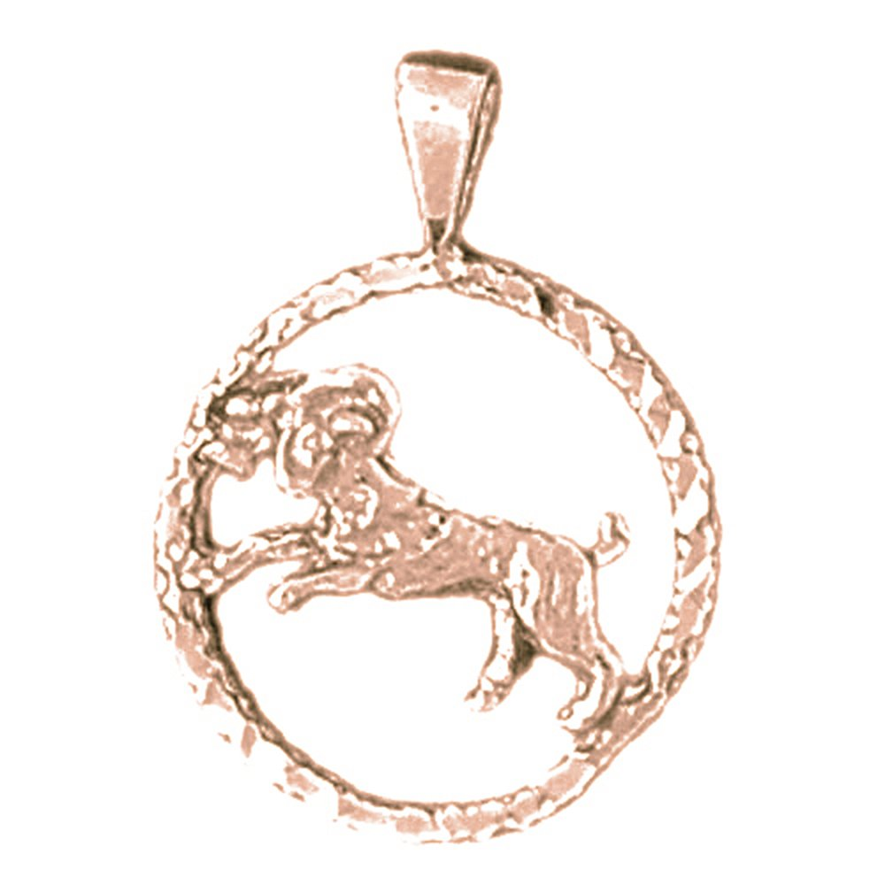 Jewels Obsession Zodiac Rhodium-plated 925 Silver Zodiac Aries Necklace Aries Pendant with 18 Necklace