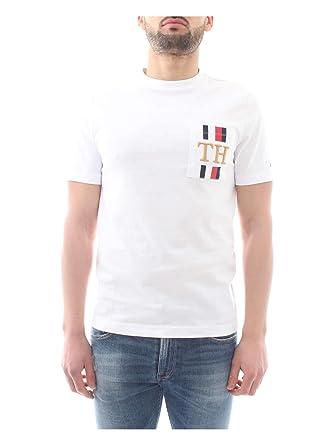a19d201766c57 Tommy Hilfiger MW0MW09833 T-Shirt Homme: Amazon.fr: Vêtements et ...