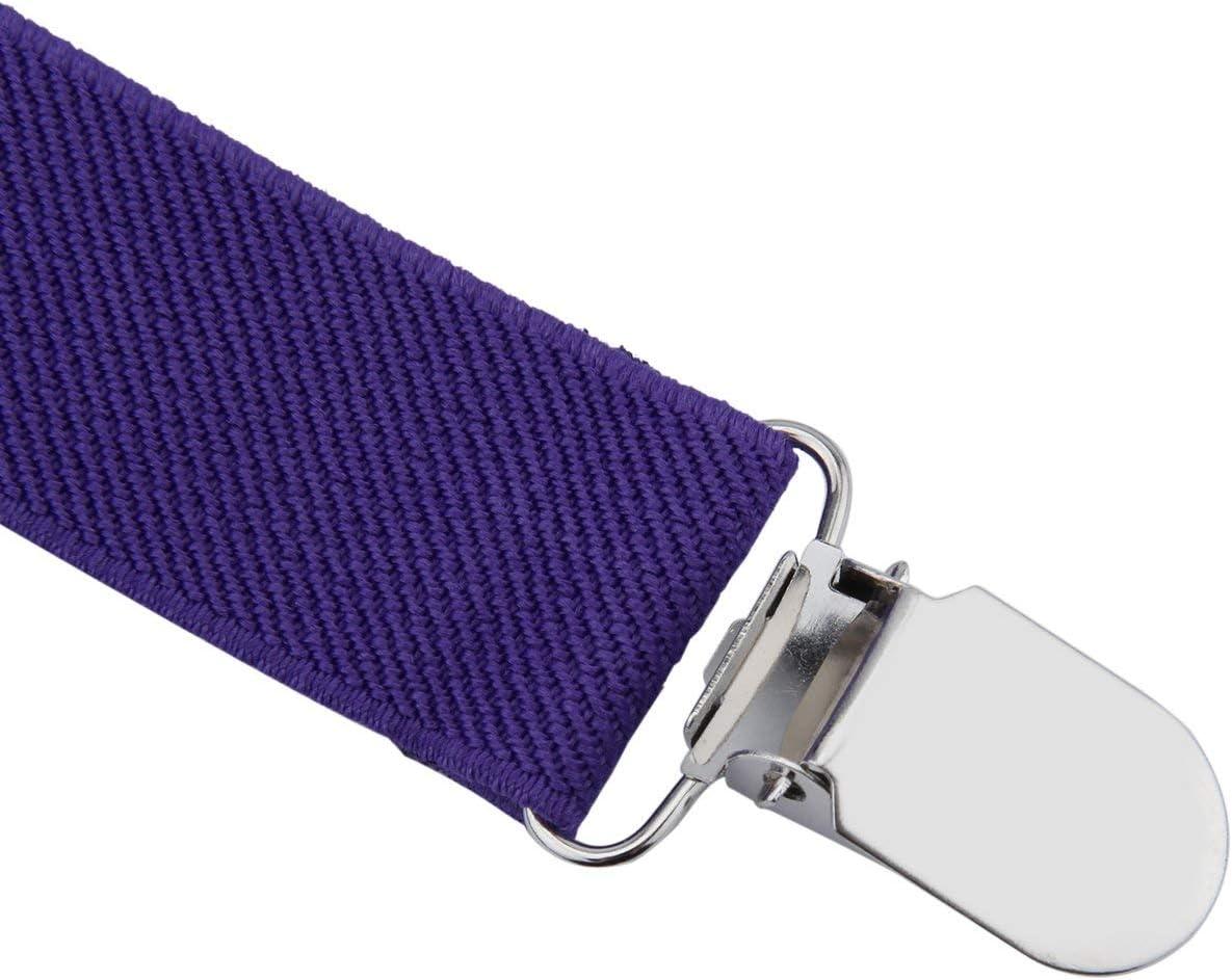 Tree-on-Life Regolabile Elastico con Clip in Metallo Poliestere Design per Bambini Bretelle e Cravatta a Farfalla Cravatte abbinate