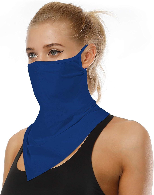 Arkim Unisex Bandana Gesichtsmaske Schal Gesicht Rave Sturmhaube Hals Gamaschen Staubtuch Waschbare Wind Motorrad Maske Frauen Männer Blau Bekleidung