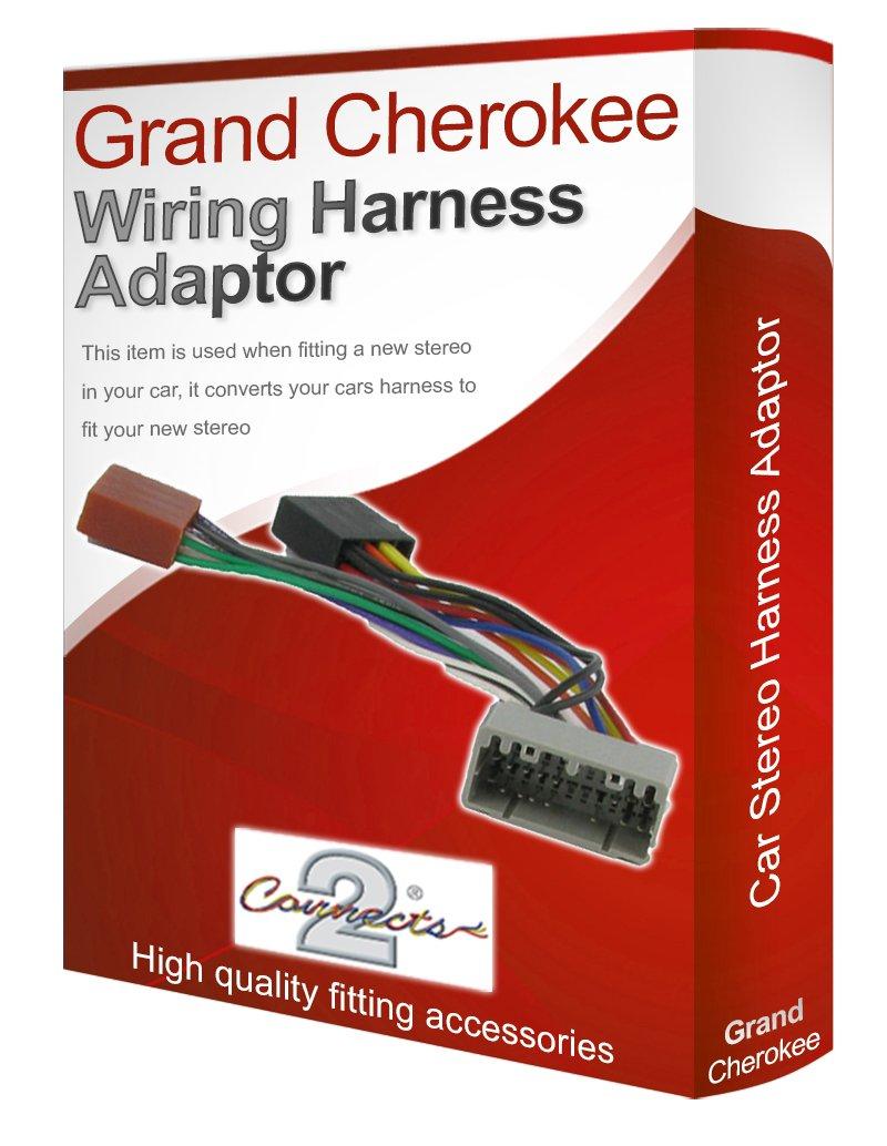 jeep grand cherokee radio stereo wiring harness adapter amazon co jeep grand cherokee radio stereo wiring harness adapter lead loom iso converter