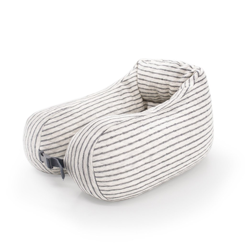ZHOU LI Soft Travel Kissen Unterstützung für Hals, Kopf, Memory Foam, leicht, tragbar, Kissen (Farbe : Hellgrau)