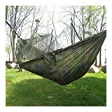 CAMO Military Jungle Hammock w Mosquito Net Camping Travel Parachute Hanging Bed Tent