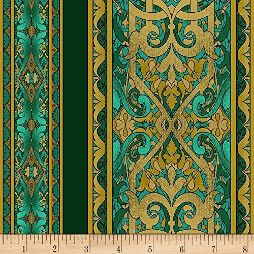 Beyer Fabric Quilt Jinny (Miyako Border Stripe Teal Fabric By The Yard)