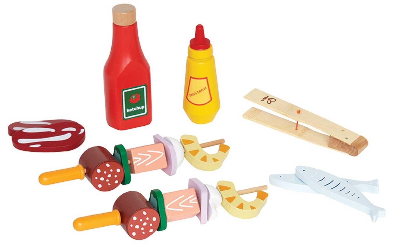 Hape Kindergrill Zubehör - Hape Grillspieße Holz Bunt