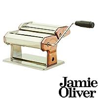 Jamie Oliver Edelstahl Nudelmaschine in Kupfer - zum Herstellen von Frischer Pasta - 24 x 15,5 x 19 cm - Schnell und einfach frische Pasta