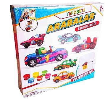 Yap Boya Arabalar çocuk Etkinlik Kendi Magnet Arabanı Oluştur