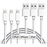 Toplus iPhone Charger Cord 3Pack 10FT/3M Extra Long Lightning Cable to USB Charging Cord for iPhone X 8 8 Plus 7 7Plus 6 6Plus 5 5s 5c SE iPad iPod Mini Air Pro(White)