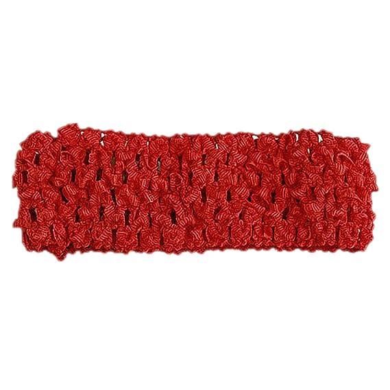 Elastica Nino Bebe Chicas Banda Cinta Pelo Ganchillo -Rojo Crochet headband: Amazon.es: Ropa y accesorios