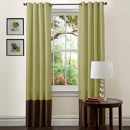 Amazoncom Lush Decor Prima Window Curtains One Pair Home Kitchen