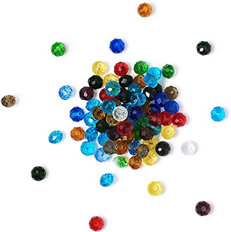 200 Pcs Mixed Color Acrylic Spacer Loose beads charms jewelry findings 8 mm