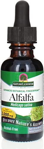 Nature s Answer Alcohol-Free Alfalfa Herb Extract, 1-Fluid Ounce Supports Immune System, Blood, Digestion, Energy Levels – Helps with Detoxification