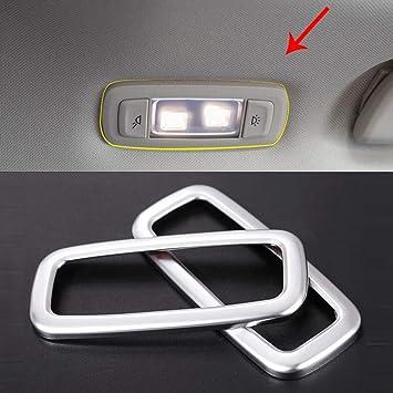 ABS Accesorios de Coche de Plástico Cromado Cubierta de Marco de Luz de Lectura Interior Borde