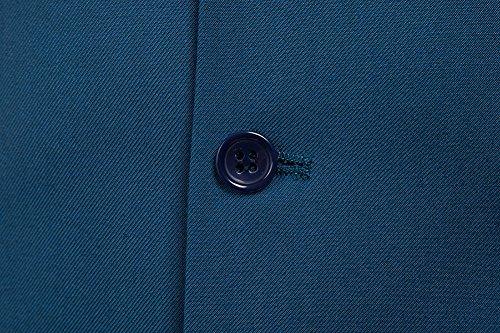 De Veste Bleu Business Sans Casual Costume Gilet Pour Homme Manche dnXUw4z