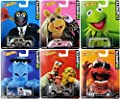 Hot Wheels 1:64 Pop Culture ASSORTMENT W CASE 2014 MUPPETS 6 Pieces Set