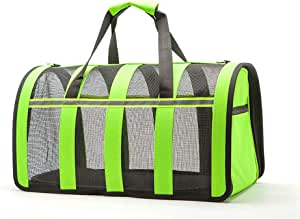 Hand-held Pet House Dog Cage Dog Supplies Carrier Portable Folding Cat Dogs Bag Hiking Outdoor Travel Puppy Pet Bags,Green,L