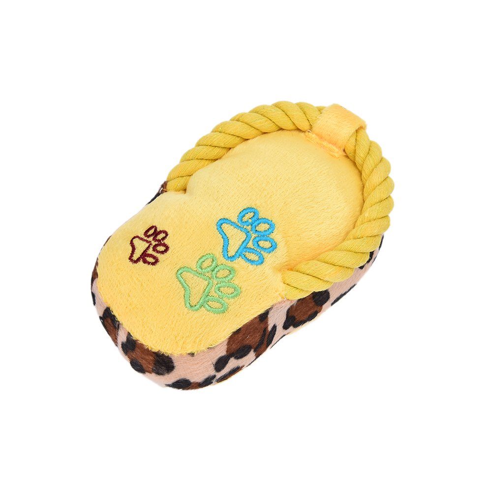 Dog Toy Pet Puppy Chew Squeaky Squeaker Sound Plush Slipper Shape Toys Brand New