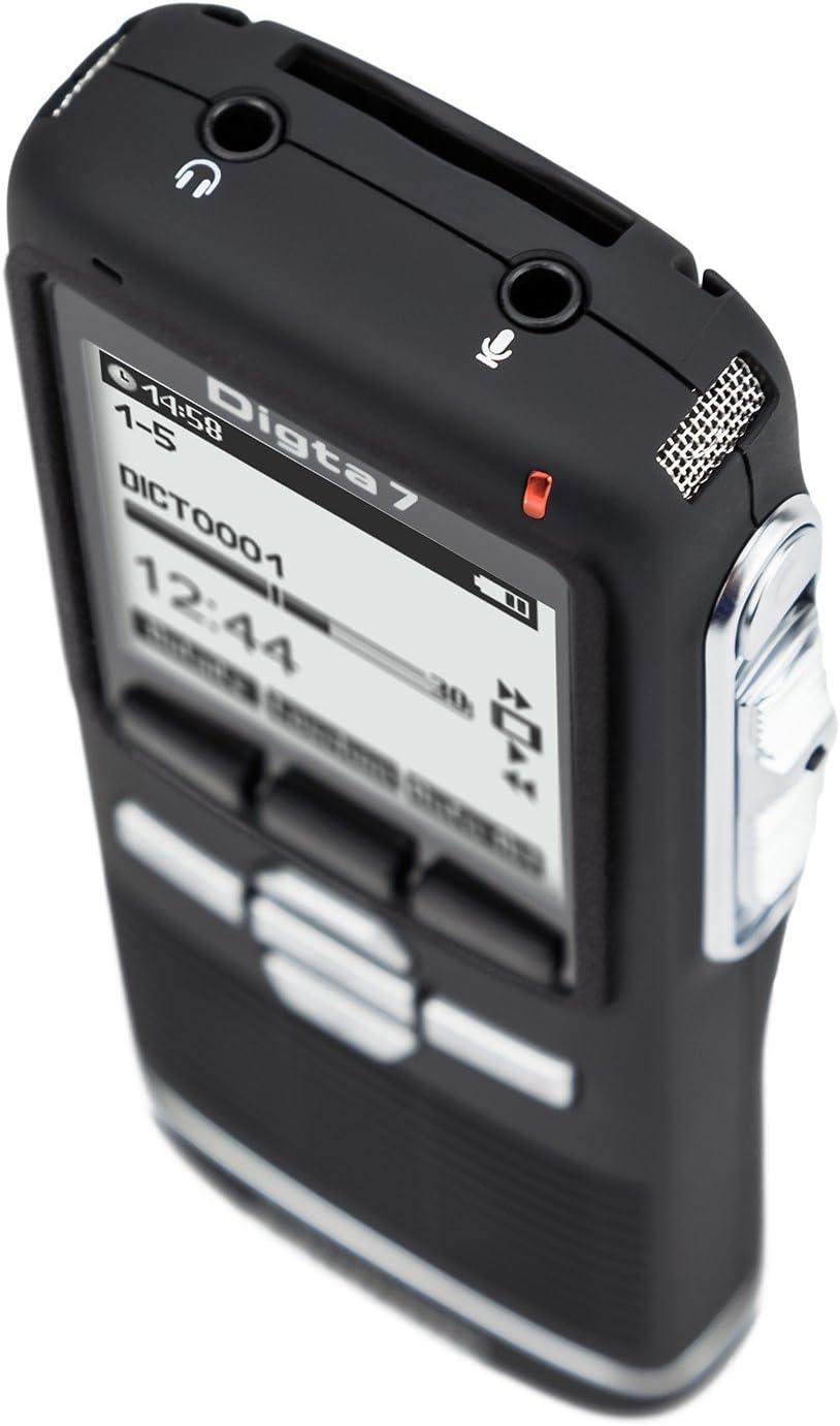 Grundig Digta 7 Digitales Diktiergerät Im Premium Set Handgerät Mit Dockingstation Diktiersoftware Und Zubehör Bürobedarf Schreibwaren