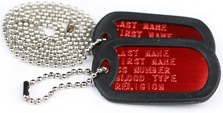 MDT-1102 Got Whippet Engraved GI Tag Key Chain Dog Tag v2 english