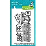 LAWN FAWN Custom Craft Add-On Dies: Scalloped Treat Box Winter House (LF1488)