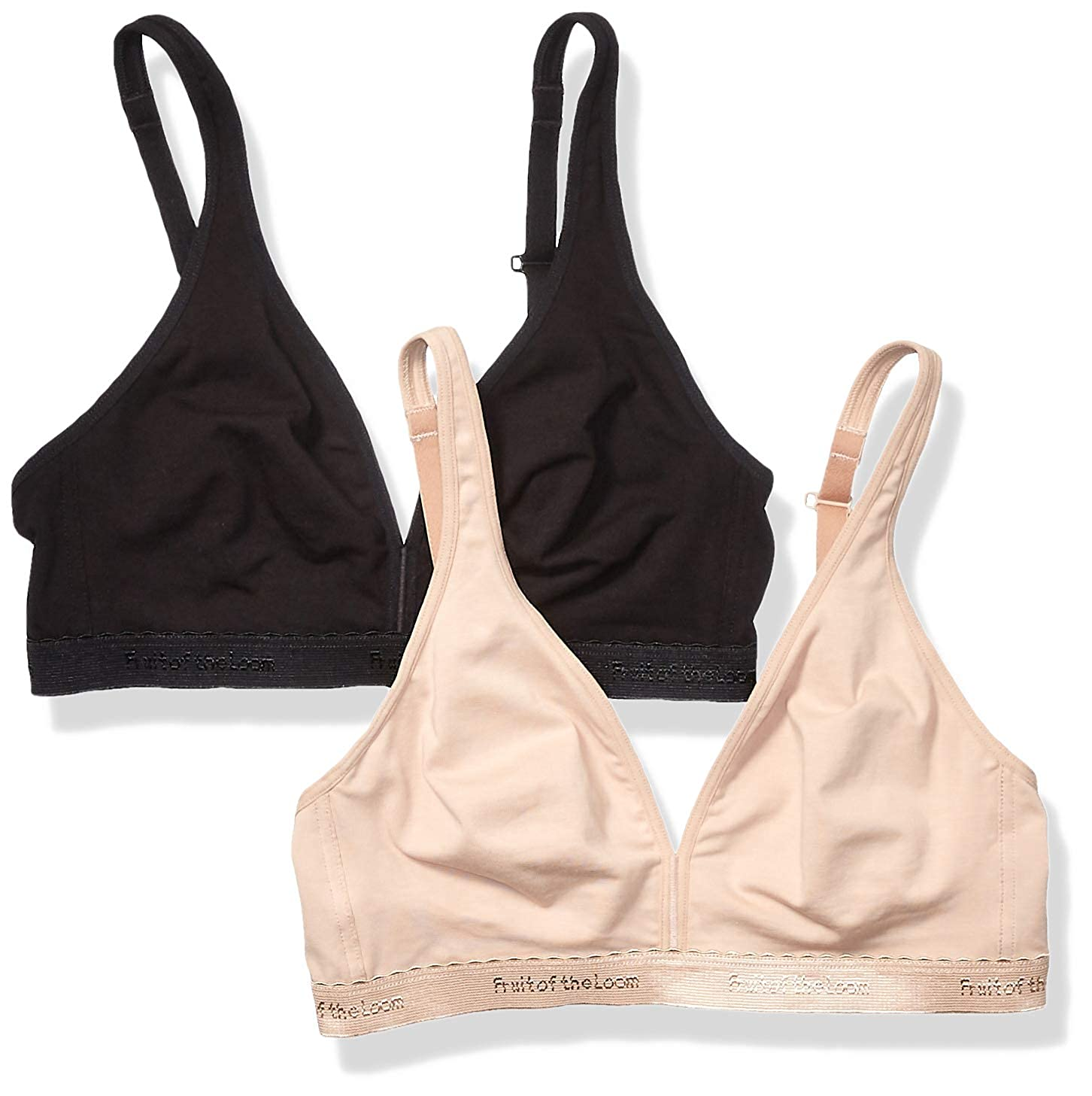 965a193b04a Fruit of the Loom Womens Wirefree Bralette 2 Pack Bra  Amazon.ca  Clothing    Accessories