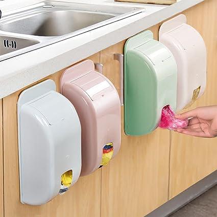 xiduobao Juego de 2 soporte de pared bolsa de la compra organizador y dispensador, almacenamiento