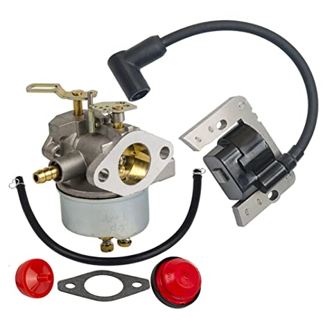 amazon com : hifrom carburetor with fuel filter primer bulb ignition coil  for tecumseh hm100 hmsk90 hmsk100 engines replace 632370a 632370 632110 :  garden &