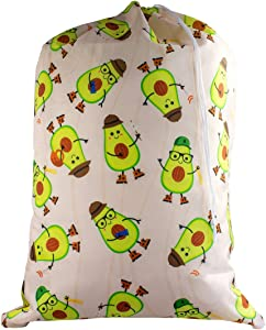 Large Laundry Bag - Store Dirty Clothes at Summer Camp, College Dorm, or Home - 16 Designs Available - 24 x 32 inches (Avocampo)