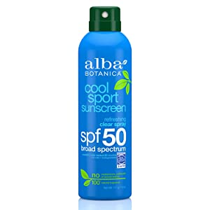 Alba Botanica Cool Sport Refreshing Clear Spray SPF 50 Sunscreen, 6 oz.
