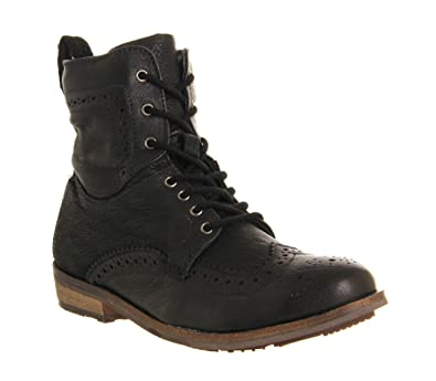 Ask The Missus Keaton Brogue Boot Black Leather