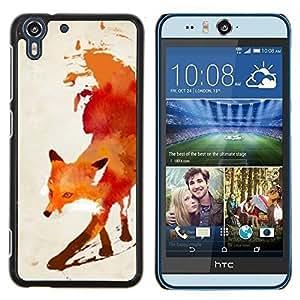 Stuss Case / Funda Carcasa protectora - Rouge Blanc Aquarelle Art - HTC Desire Eye M910x