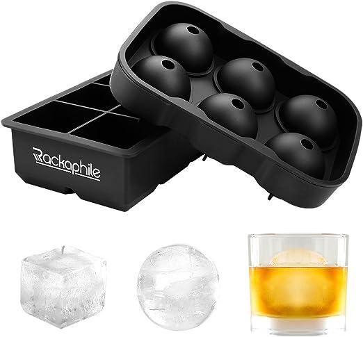 Compra Rackaphile Molde Hielo de Silicona 2 Packs con 12 Ice Ball ...